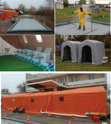 Комплексный пункт специальной и санитарной обработки в условиях радиационного, химического и биологического заражения (загрязнения)